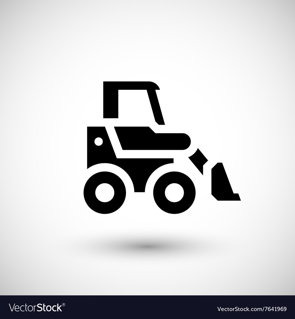 Mini earth mover icon vector