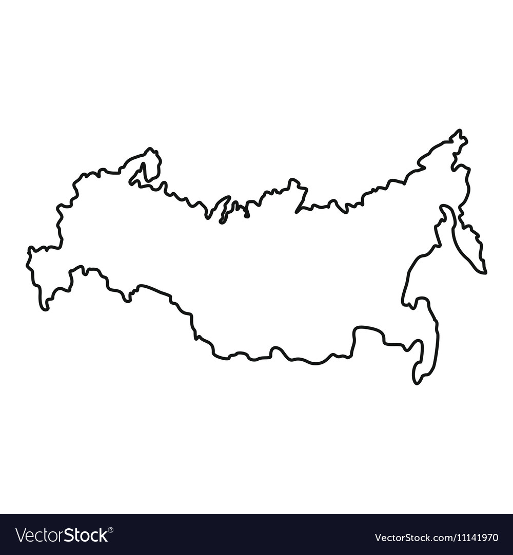 Russia map icon outline style vector