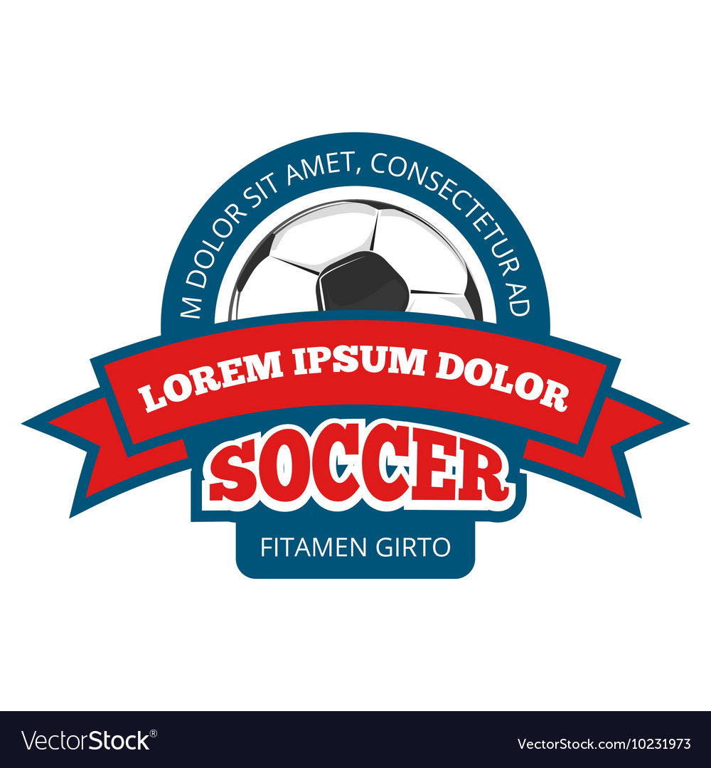 Round soccer logo template isolated on vector