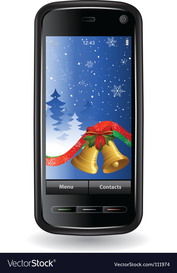 Christmas cell phone vector