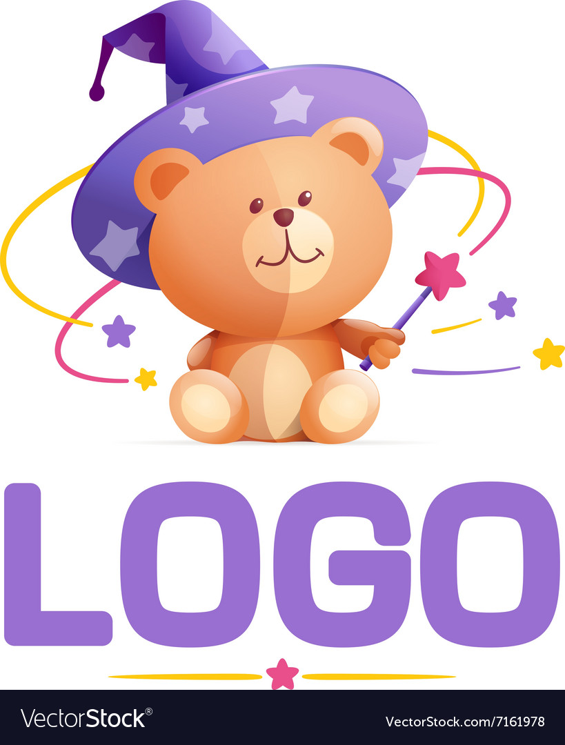 Teddybear character for logo vector