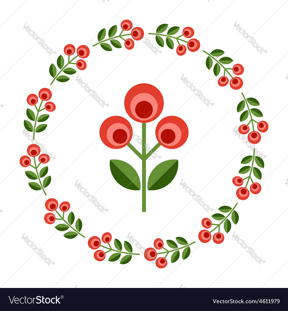 Design elements  round floral frame flower icon vector