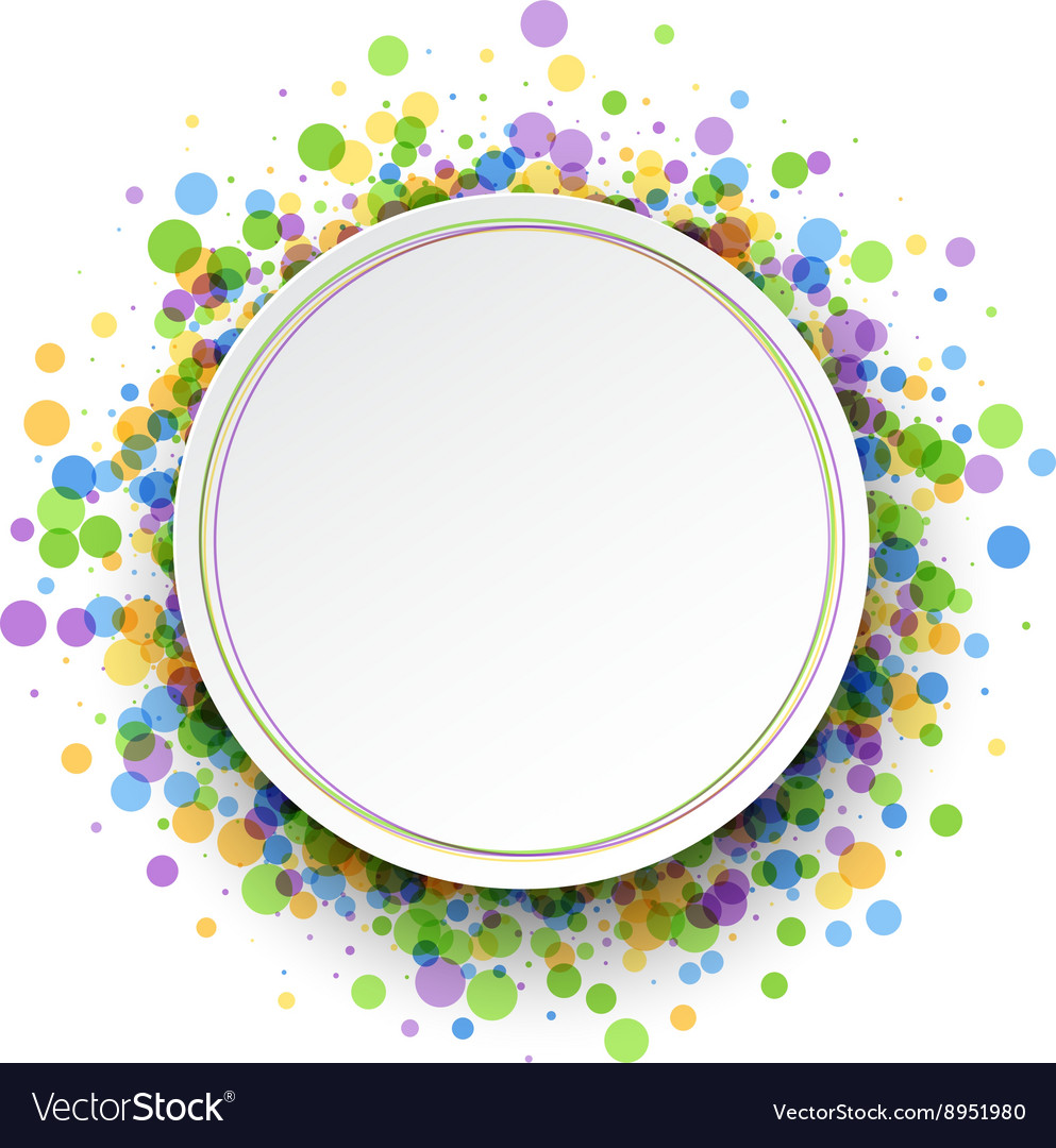 Round color background vector
