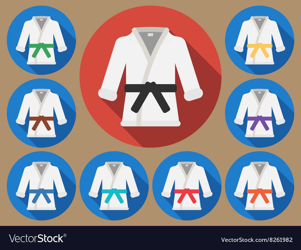 Karate suit flat vector