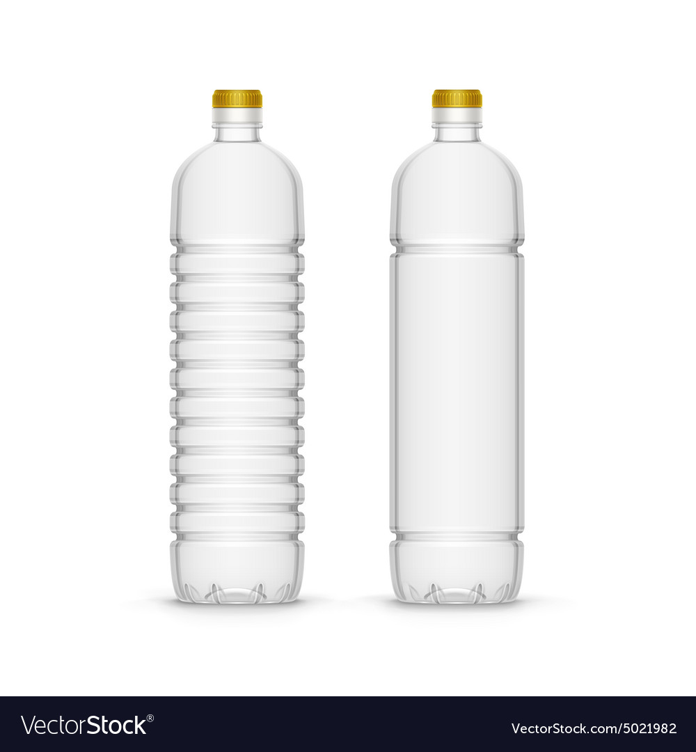 Plastic sunflower olive oil blank bottle vector
