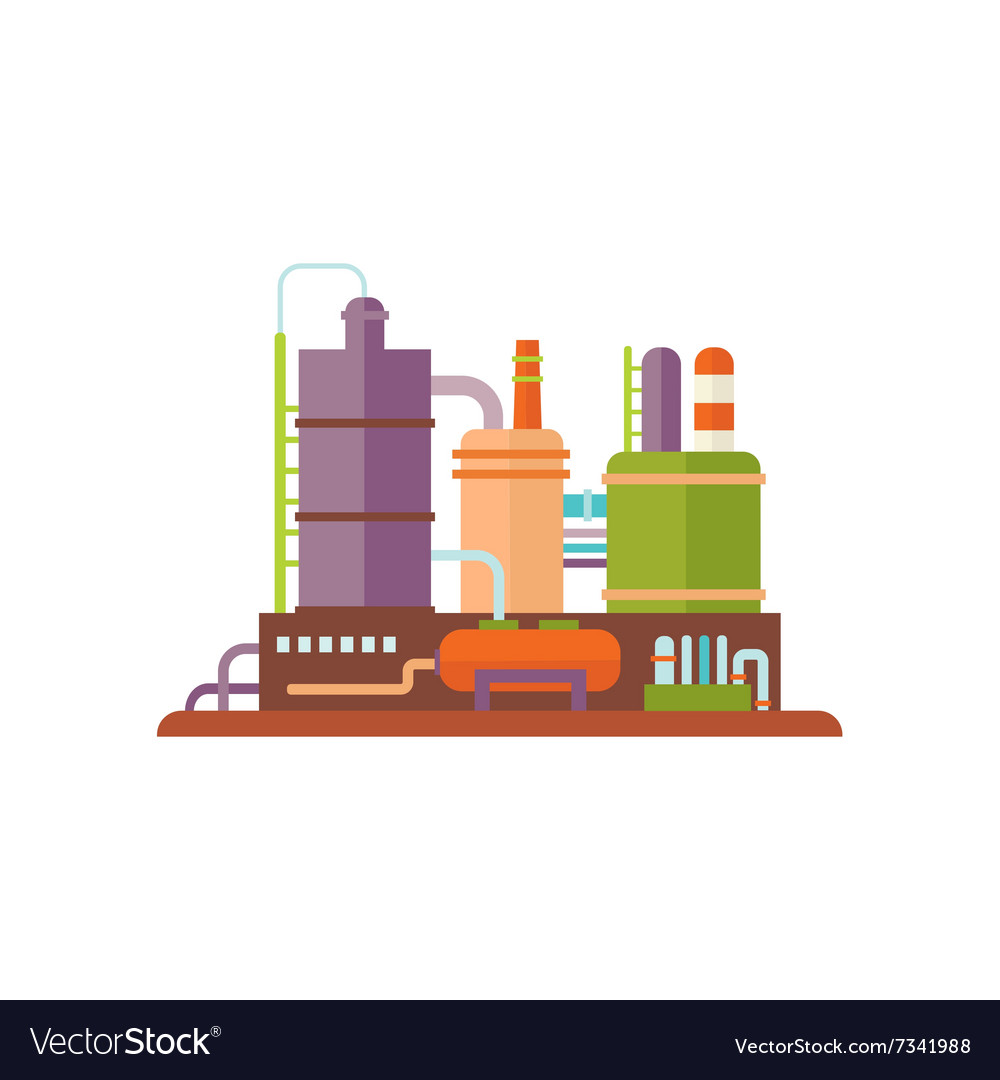 Industrial factory buildings vector