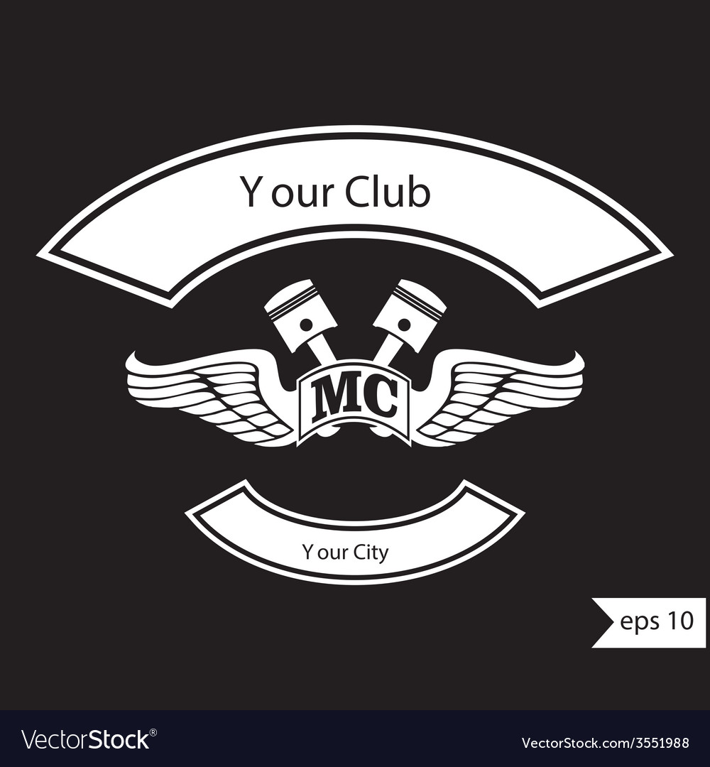 Vintage motorcycle club design elements vector