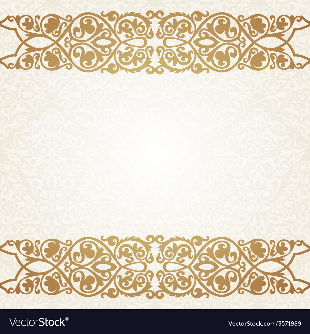 Floral border on seamless background vector