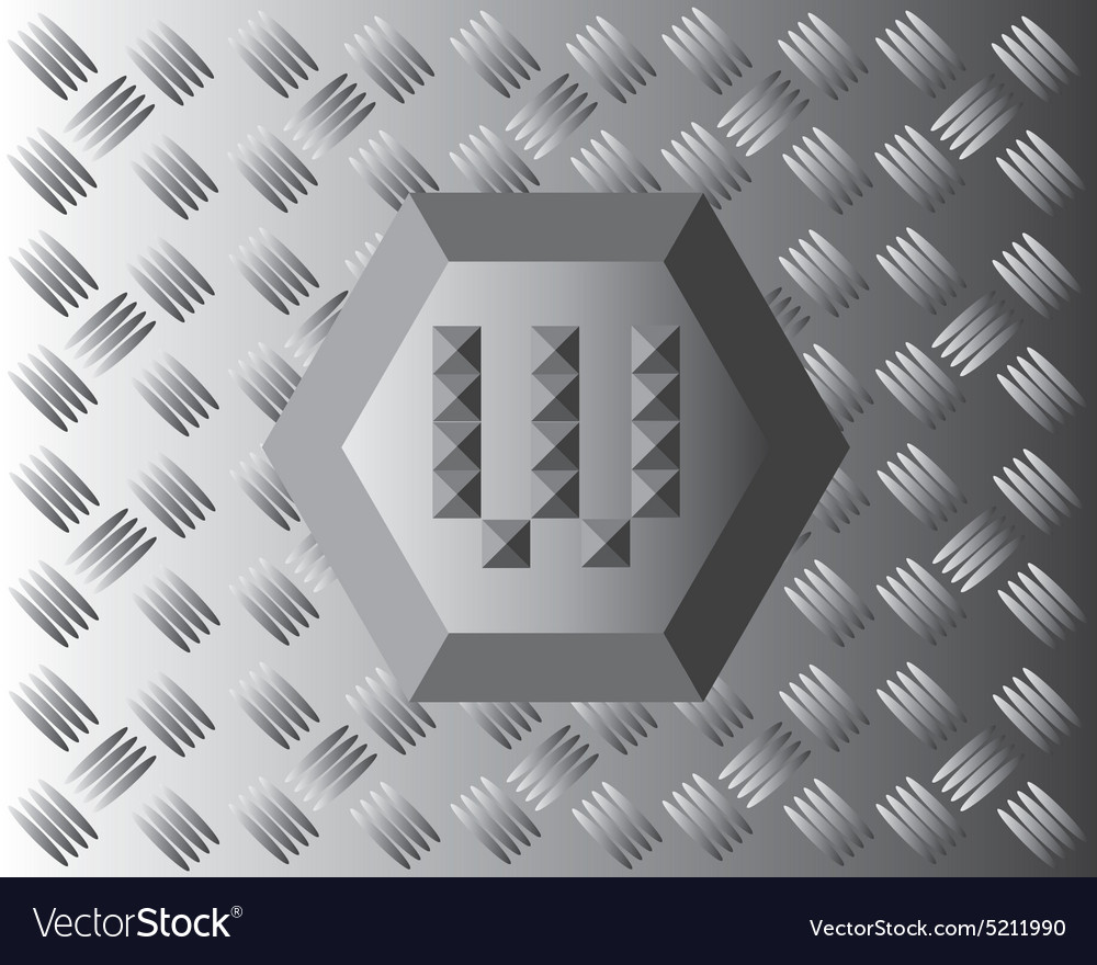 W text aluminium wallpaper vector