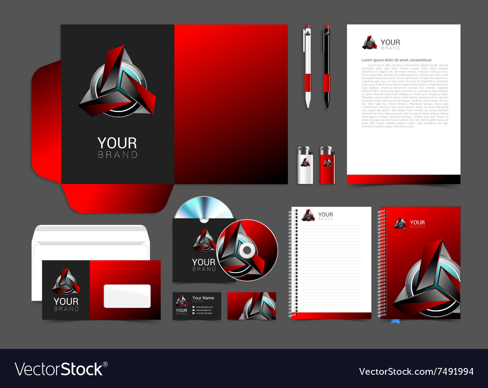 Corporate style red robot technology turquoise vector