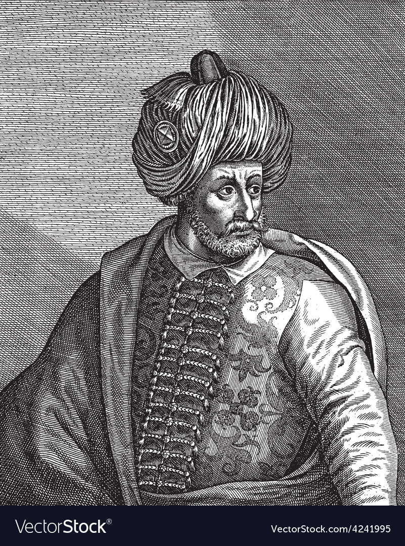 Ottoman sultan bayezid the first vector