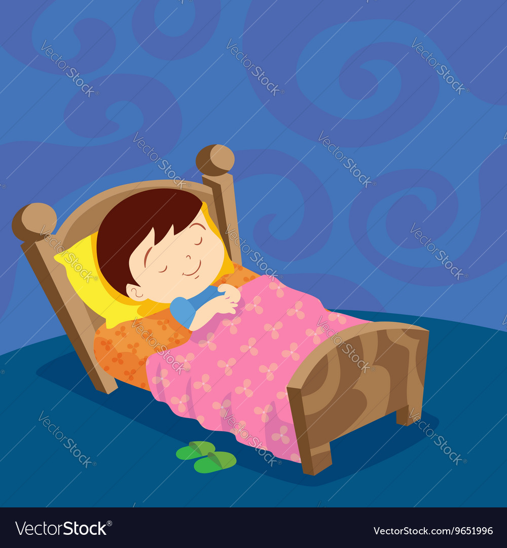 Boy sleep sweet dream vector