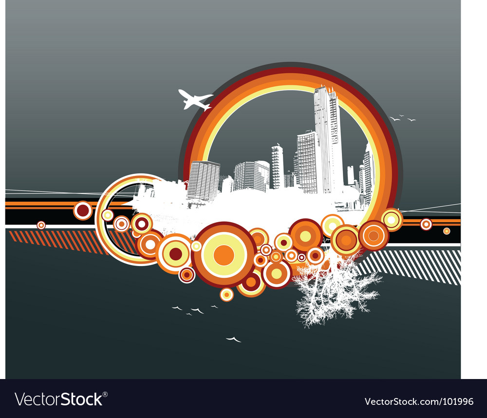City and nature vector