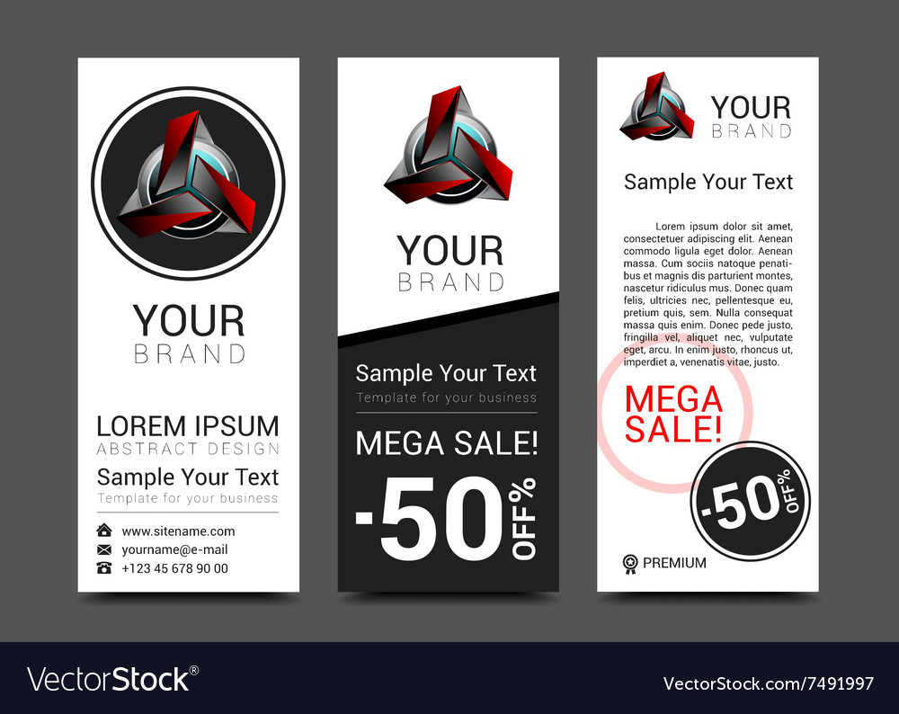 Banner design red robot technology turquoise black vector