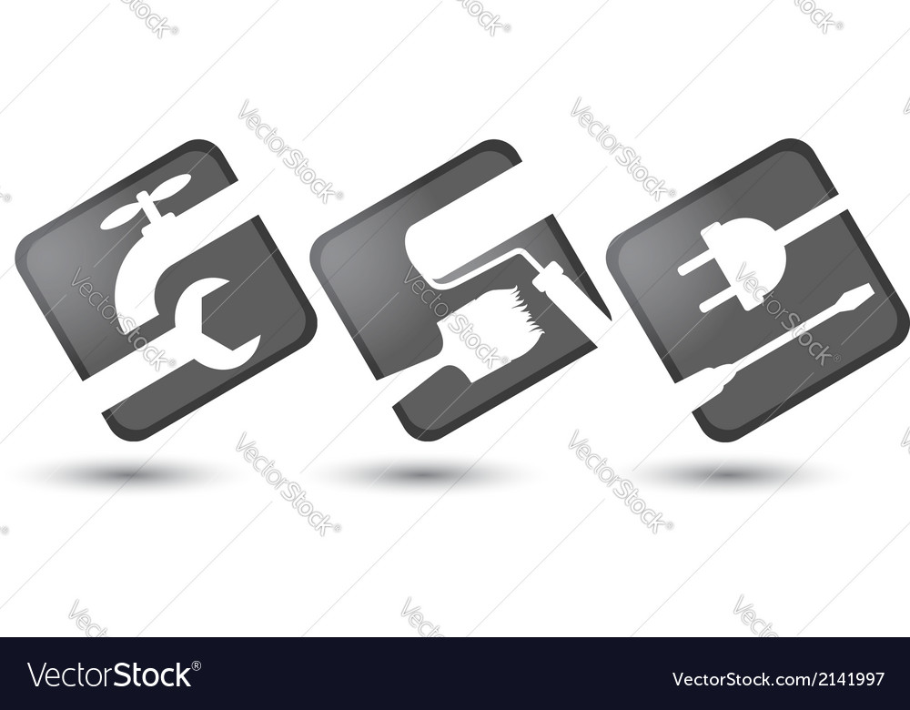 Icons for construction business vector