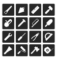 Black Construction and Building Tools icons vector image