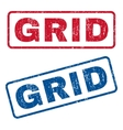 Grid Rubber Stamps vector image