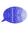 message cloud grunge textured icon vector image