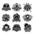 Monochrome sport logos set vector image