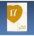 Happy birthday poster vector image