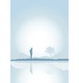 solitude vector image vector image