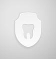 Emblem human tooth vector image vector image