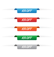 10 percent off paper tag labels vector image vector image