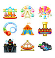 Attraction icons vector image
