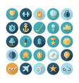 icons flat line travel sport vector image