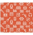 Music Background Outline Icon Set vector image