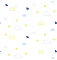 Cute seamless pattern with clouds and hearts vector image