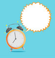 alarm clock bubble speech background vector image
