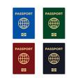 biometric passport set isolated vector image