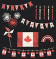 Canada Day Patriotic Chalk Flag Party Set vector image