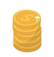 Coin stacks flat design Gold coins cent vector image