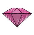 colorful diamond stone cartoon vector image