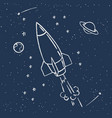 cute space travel vector image