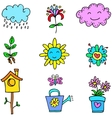 Doodle of spring item colorful vector image