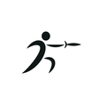 fencing icon monochrome on white background vector image