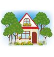 house in the garden vector image