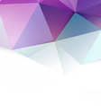 Modern purple polygon background vector image