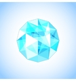 Realistic topaz shaped Gem vector image