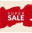 red acryl painted brush background SALE vector image