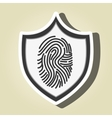 symbol finger print data vector image