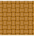 seamless woven wicker rail fence background vector image vector image