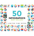 circle infographics set 50 best seller vector image