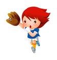 Girl playing baseball vector image