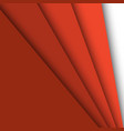 red paper overlapping abstract background vector image