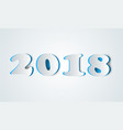 2018 year icon slice number vector image