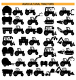 Agricultural Tractor Pictograms vector image
